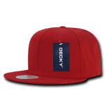 Custom Cotton Snapback Flat Bill Hat (Embroidered with Logo) - Red - Decky 361