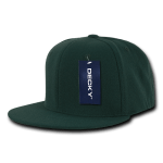 Custom Snapback Flat Bill Flex Hat (Embroidered with Logo) - Forest - Decky 873