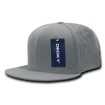 Custom Snapback Flat Bill Flex Hat (Embroidered with Logo) - Grey - Decky 873