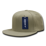 Custom Snapback Flat Bill Flex Hat (Embroidered with Logo) - Khaki - Decky 873