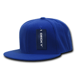 Custom Snapback Flat Bill Flex Hat (Embroidered with Logo) - Royal - Decky 873