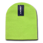 Custom Short Beanies (no cuff) (Embroidered with Logo) - Melon - Decky KCS