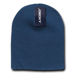 Custom Short Beanies (no cuff) (Embroidered with Logo) - Navy - Decky KCS
