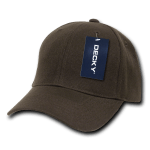 Custom Kids' Baseball Cap (Embroidered with Logo) - Brown - Decky 7001