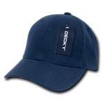 Custom Kids' Baseball Cap (Embroidered with Logo) - Navy - Decky 7001
