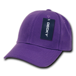 Custom Kids' Baseball Cap (Embroidered with Logo) - Purple - Decky 7001