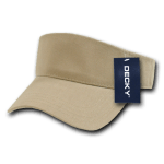 Custom Youth Visors (Embroidered with Logo) - Khaki - Decky 7007