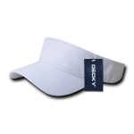 Custom Youth Visors (Embroidered with Logo) - White - Decky 7007