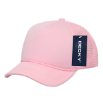 Custom Youth Trucker Mesh Baseball Hat (Embroidered with Logo) - Pink - Decky 7010
