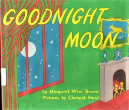 Goodnight Moon book cover - treatment of Moon motion and astronomy