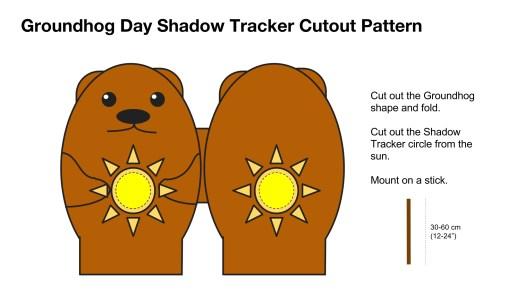Groundhog Day Shadow Tracker Cutout Pattern