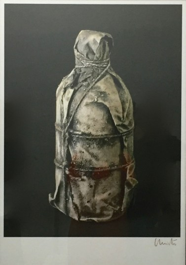 Wrapped Bottle, Skizze, signiert © starkandart.com