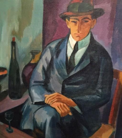 Max Pechstein - Sitzender junger Mann (Harry Kaprolat), 1917, Brücke-Museum Berlin ©starkandart.com