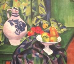 Max Pechstein - Stillleben mit Fruchtschale, 1912, Öl auf Leinwand, Kunstsammlungen Zwickau, Max-Pechstein-Museum ©starkandart.com