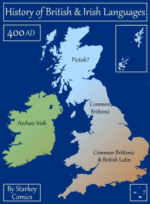 Map Of France 900 Ad.A Brief History Of British And Irish Languages Starkey Comics