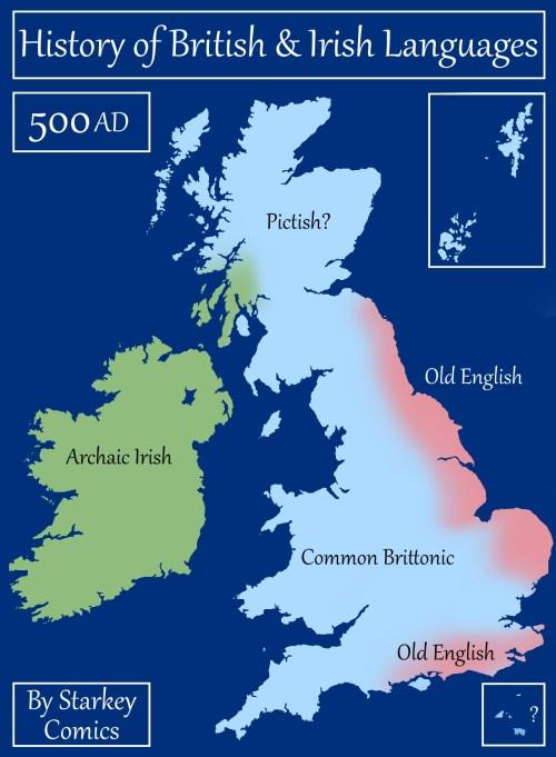A Brief History of British and Irish Languages - Starkey Comics
