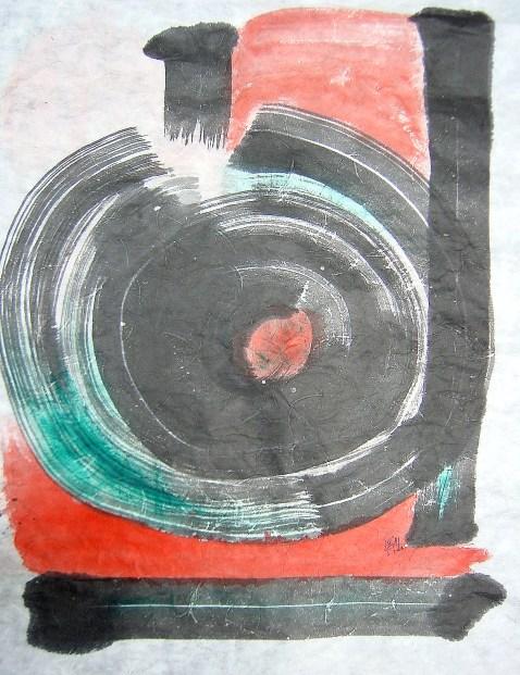 private collection, 2001, Seoul mixed media on roc paper, 59 x 76 cm (Paris)
