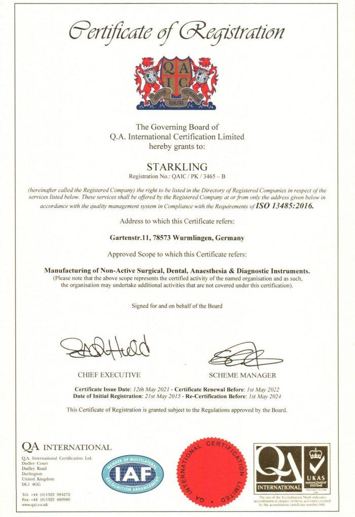 Starkling ISO 13485 Von 2021 1 700x1020