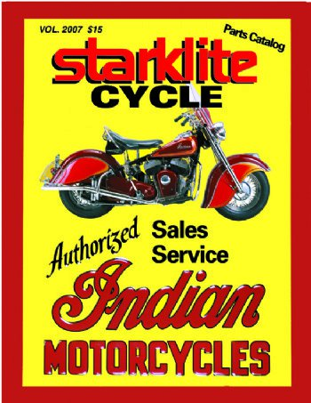 Starklite Cycle Catalog of vintage Indian Motorcycle Parts and Accessories