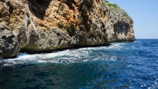 The coastline around Santa Cesarea