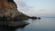 Dusk of the coast of Santa Cesarea Terme