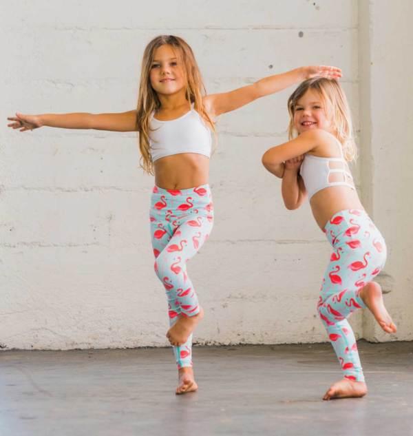 Flamingo Flexi Yoga Pants Kids And Minis - Starlinedance