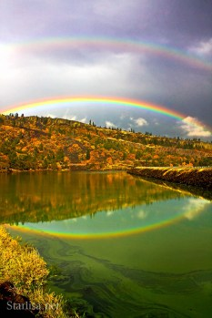 Rowland Lake Double Rainbow