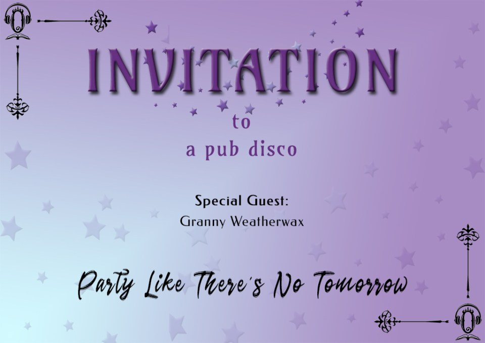 Rainbow Maccabre Party with the Stars invitation