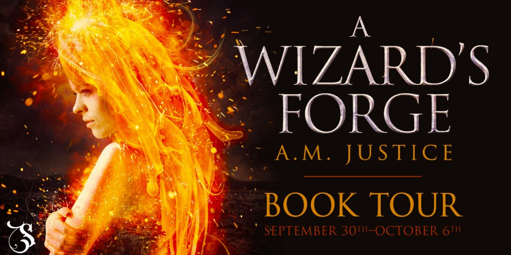 A Wizard's Forge by A. M. Justice tour banner