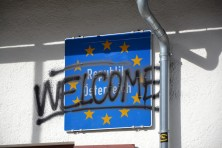 """Welcome and under these words is written """"republic Austria"""""""