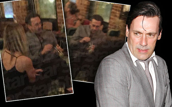 Back To Booze Jon Hamm Caught Having Multiple Drinks