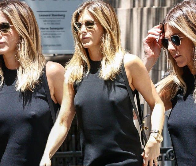 Baring It All Jennifer Aniston Busts Out Her Nipples In Nyc