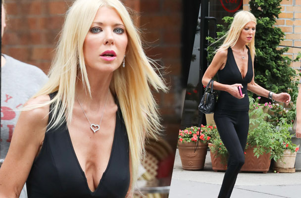Skin & Bones! Scary Skinny Tara Reid Shows Off Major Cleavage Post-Interview Disaster With Jenny ...