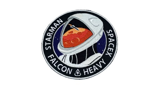 Starman Patch, SpaceX Patch, Starman Mars Mission Patch