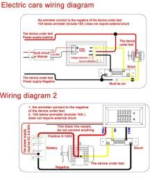 dc 100v 10a voltmeter ammeter blue red led dual digital volt amp meter gauge [ 1001 x 1001 Pixel ]