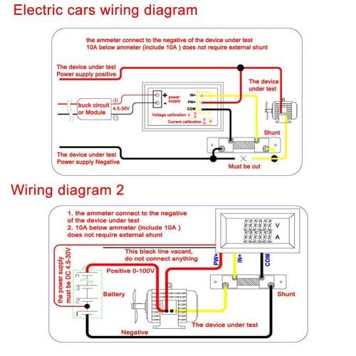 small resolution of dc 100v 10a voltmeter ammeter blue red led dual digital volt amp meter gauge