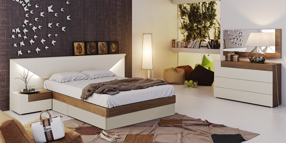 Elena Modern Italian Bedroom set  N Star Modern Furniture