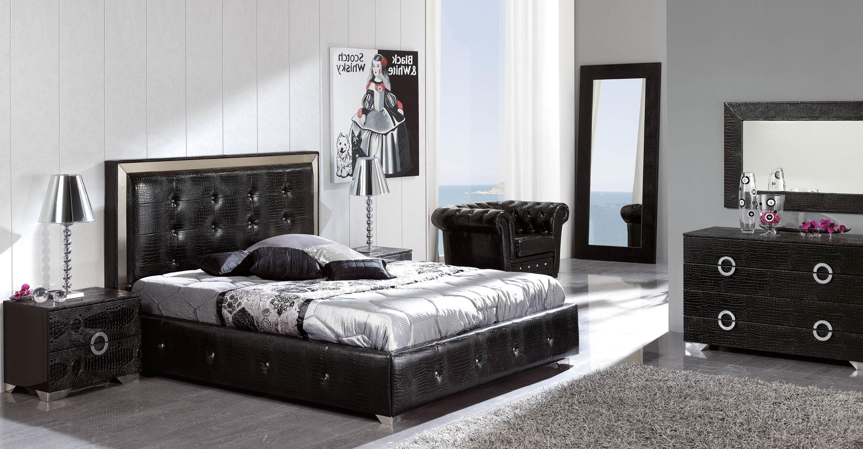 Coco Black Modern Italian Bedroom Set N Star Modern Furniture