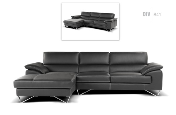 black and white leather sofa empire freedom nicoletti div 841 sectional - sectionals living ...