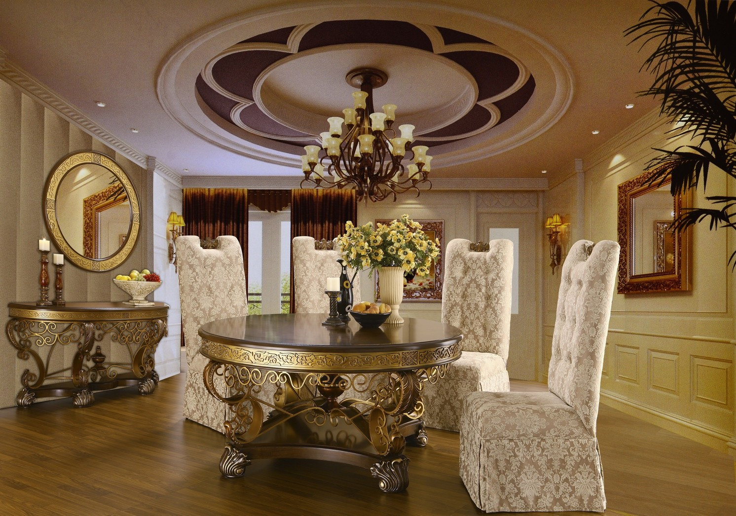 Ornate Dining Table HD 2112 Classic Dining Dining