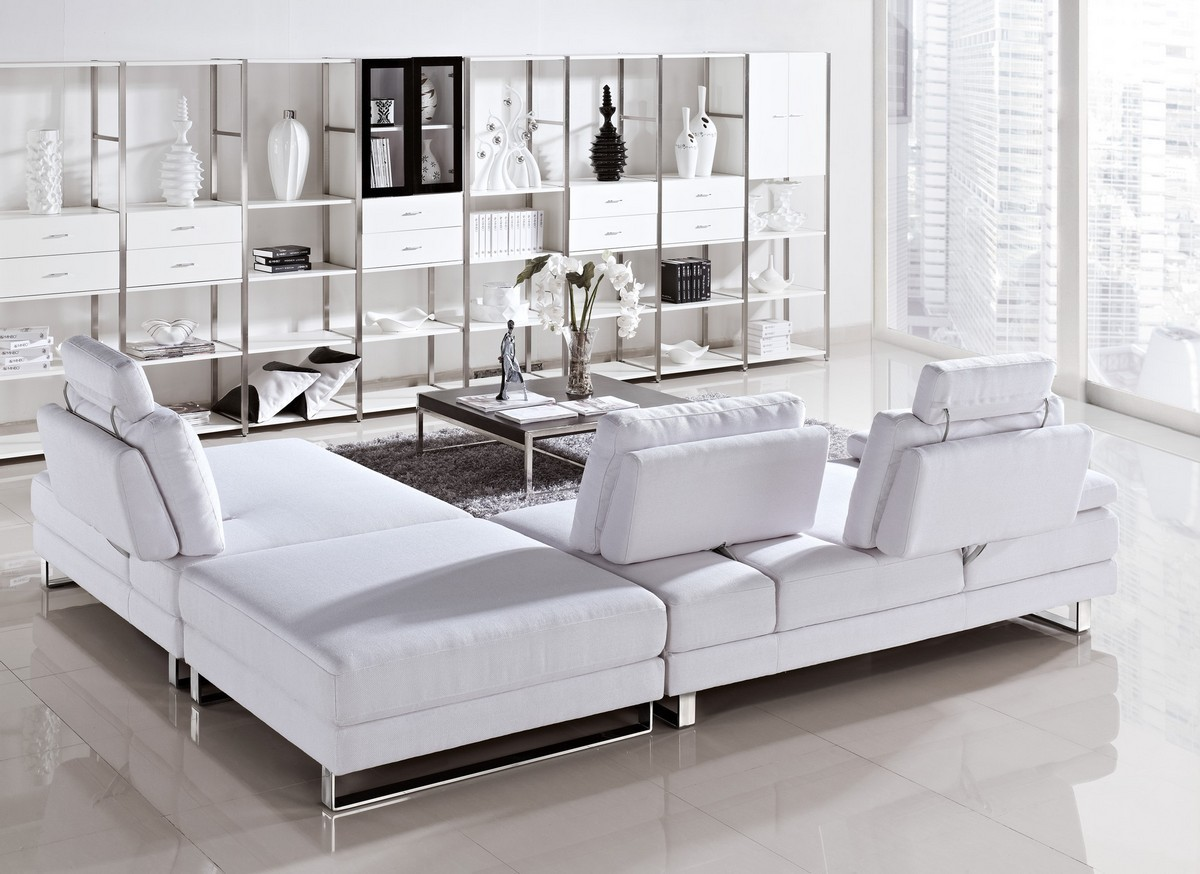 white leather sectional sofa with ottoman exposed wood frame sofas vega - modern fabric set pull-back ...