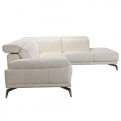 Divani Casa 5106 Modern White Italian Leather Sectional Sofa Brown Sale Tundra Full