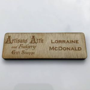 Wood Name Tag