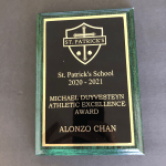 Awards - Keeper Plaque Green with Metal Plate
