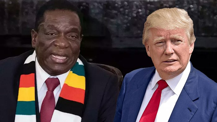 Donald Trump and Emmerson Mnangagwa