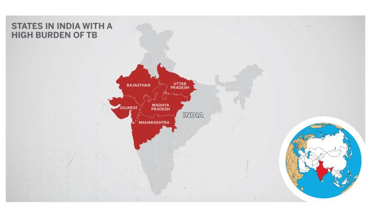Maximum TB cases in India