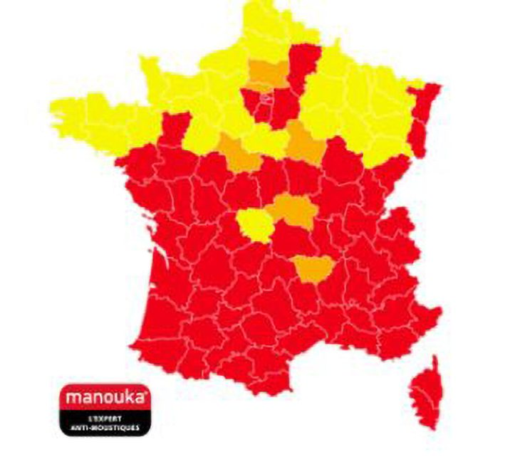 The latest map by French organisation Vigilance Moustique shows where the Asian tiger mosquito has spread in France this year. (Vigilance Moustique/Zenger)