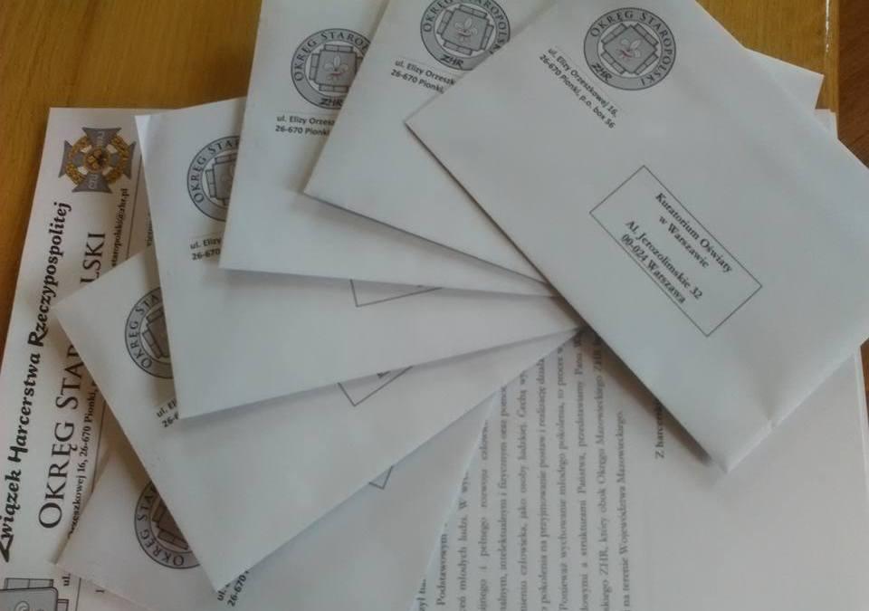 Pierwsza oficjalna korespondencja gotowa