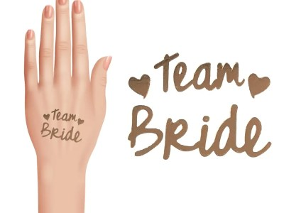 Tatoveeringute kmp Team bride (kuldne)