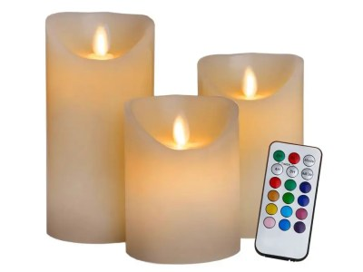 Küünlad 12 erivärvi led tulega  (3 tk  + pult)